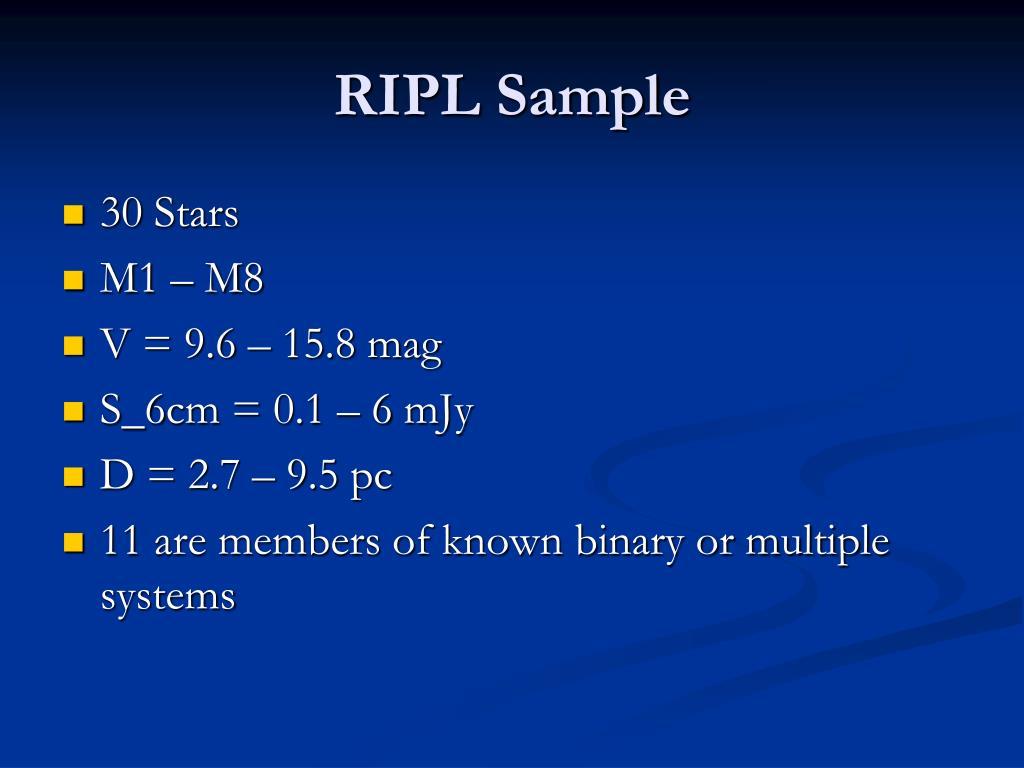 RIPL Sample