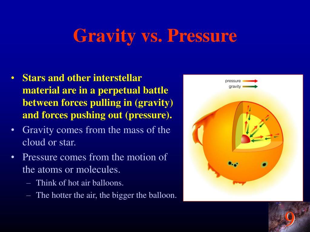 Gravity vs. Pressure