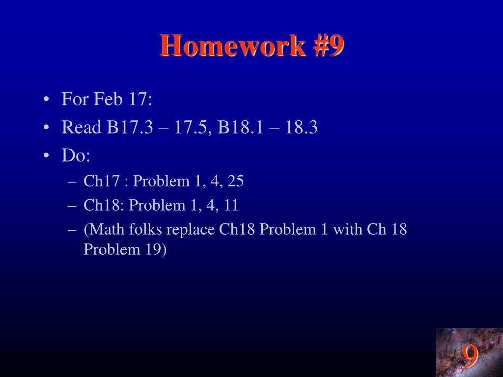 Homework #9