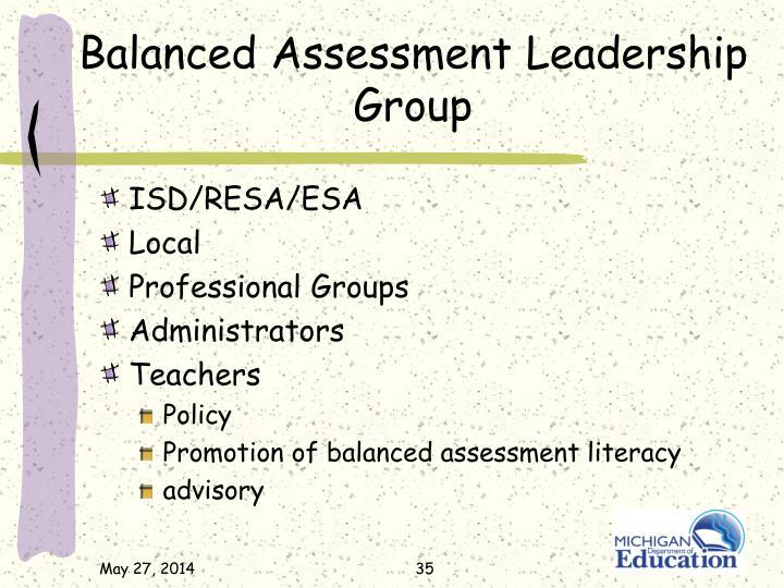 Balanced Assessment Leadership Group