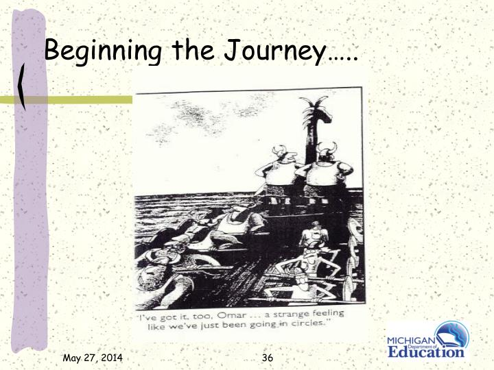 Beginning the Journey…..
