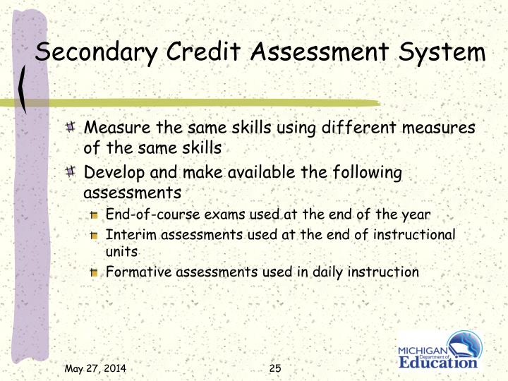 Secondary Credit Assessment System