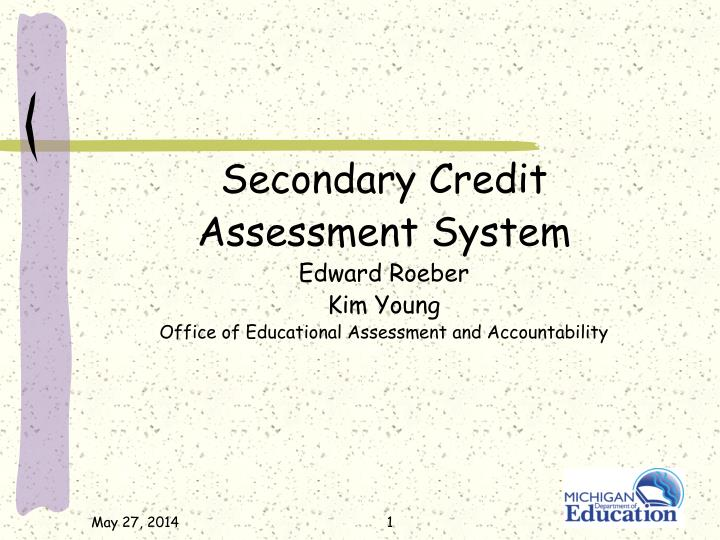 Secondary Credit