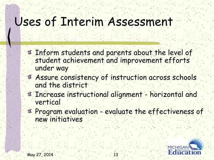 Uses of Interim Assessment