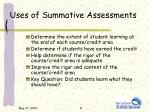 uses of summative assessments