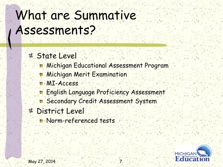 What are Summative Assessments?