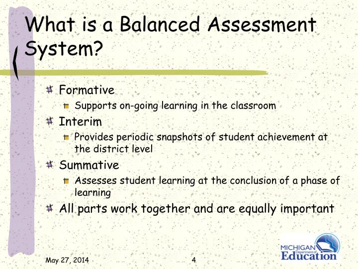 What is a Balanced Assessment System?