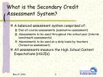 what is the secondary credit assessment system