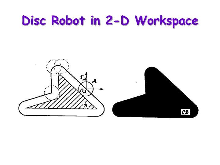 Disc Robot in 2-D Workspace
