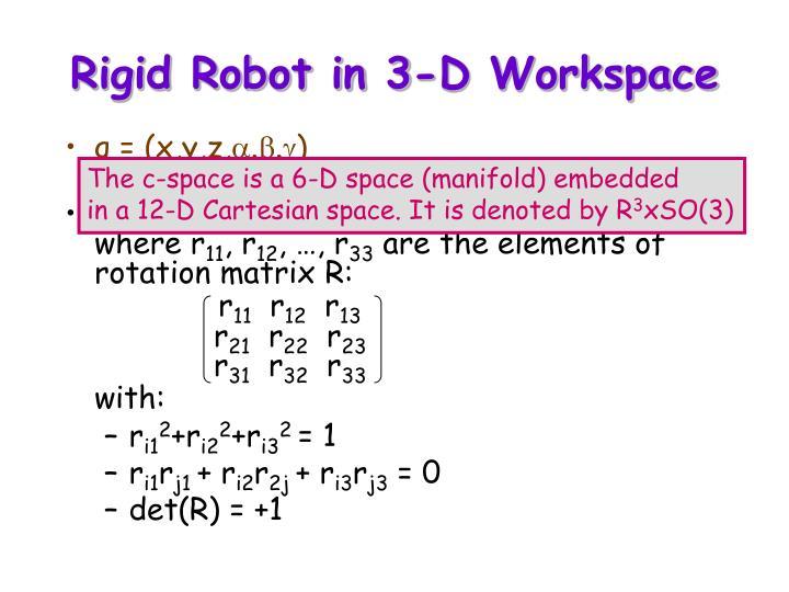 Rigid Robot in 3-D Workspace