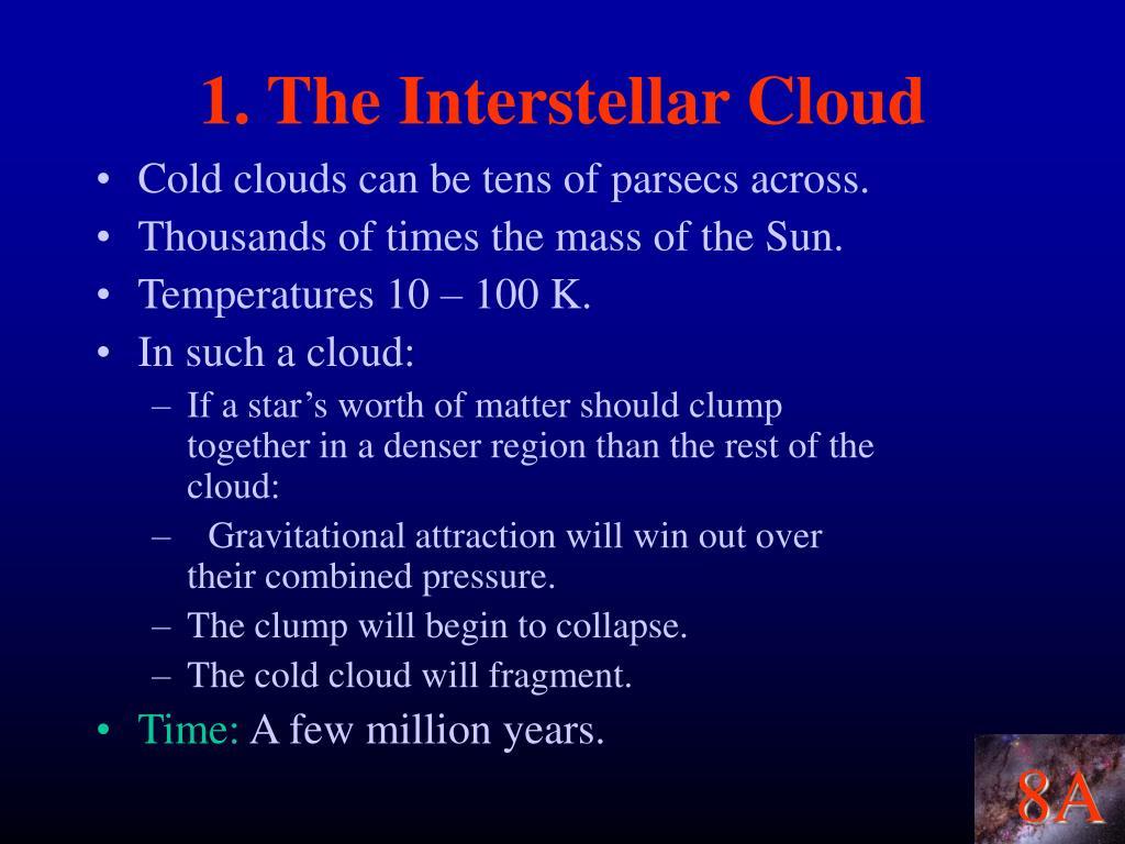 1. The Interstellar Cloud