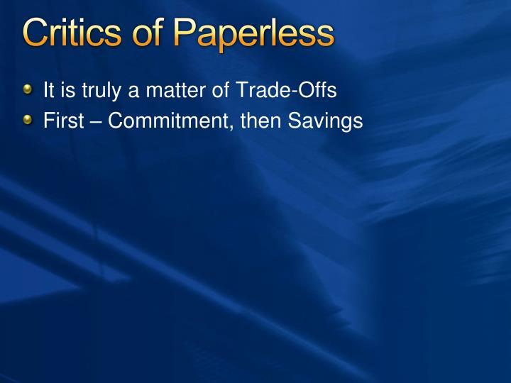 Critics of Paperless