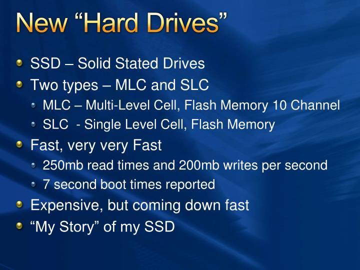 "New ""Hard Drives"""