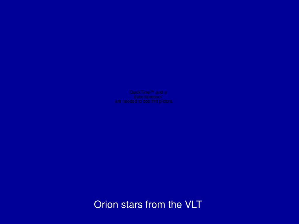 Orion stars from the VLT