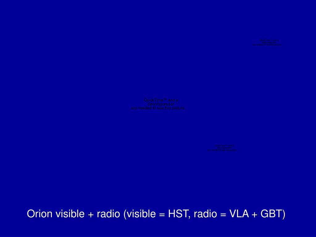 Orion visible + radio (visible = HST, radio = VLA + GBT)