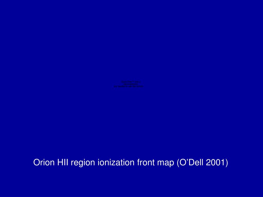 Orion HII region ionization front map (O'Dell 2001)