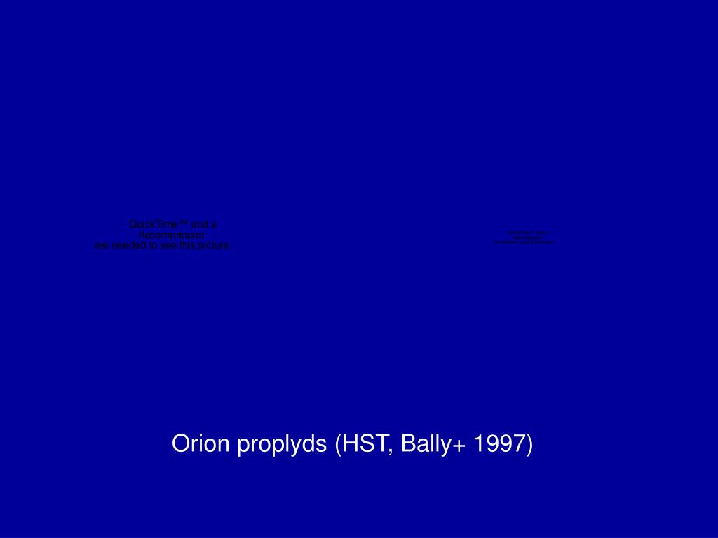 Orion proplyds (HST, Bally+ 1997)