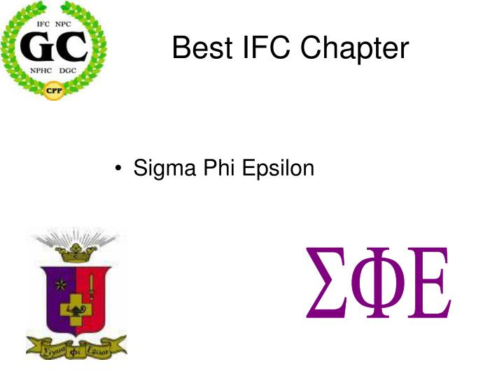 Best IFC Chapter