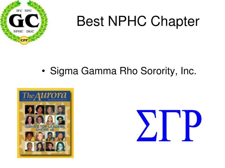 Best NPHC Chapter