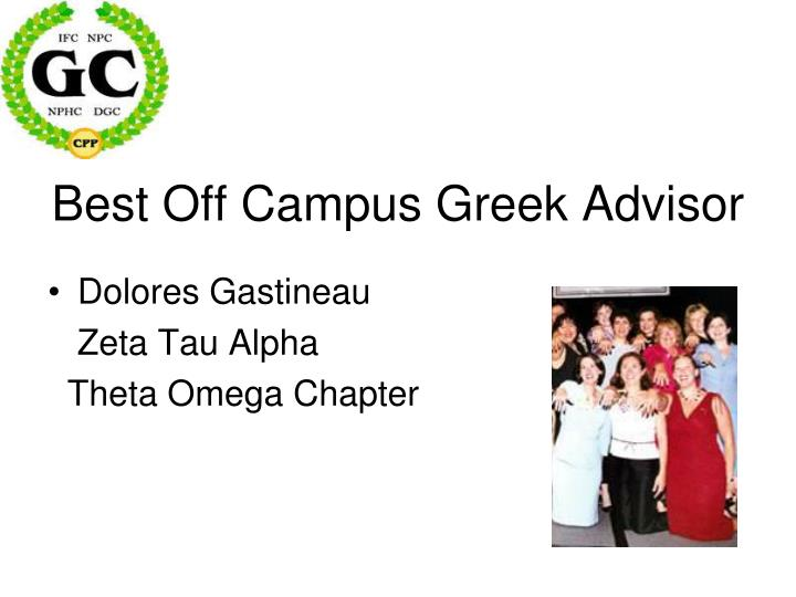 Best Off Campus Greek Advisor