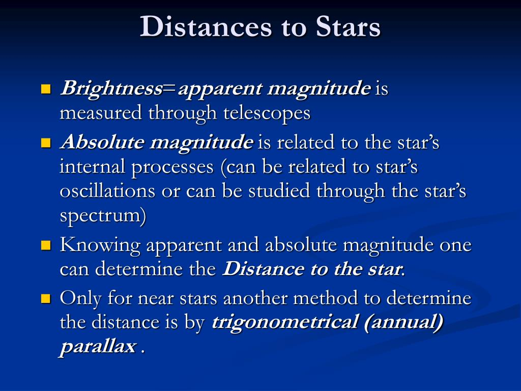 Distances to Stars