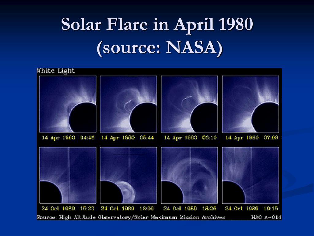Solar Flare in April 1980