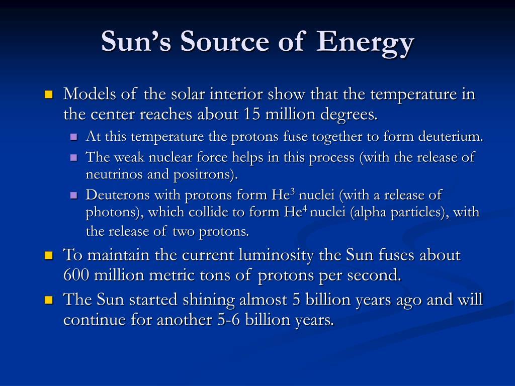Sun's Source of Energy