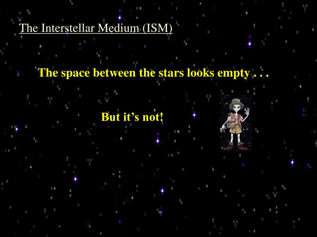 The Interstellar Medium (ISM)
