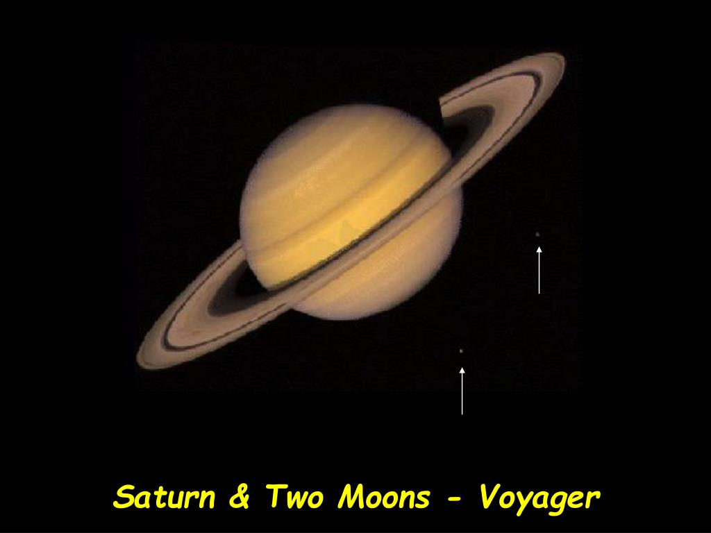 Saturn & Two Moons - Voyager