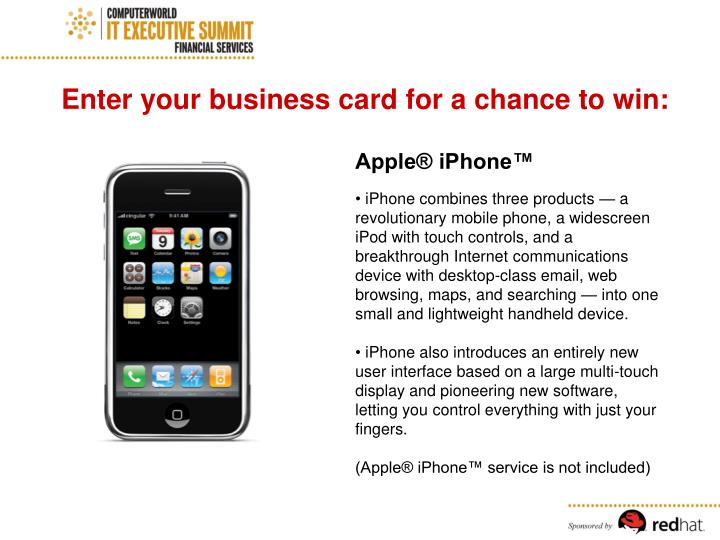 Enter your business card for a chance to win: