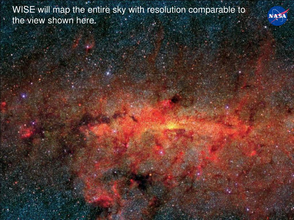 WISE will map the entire sky with resolution comparable to the view shown here.