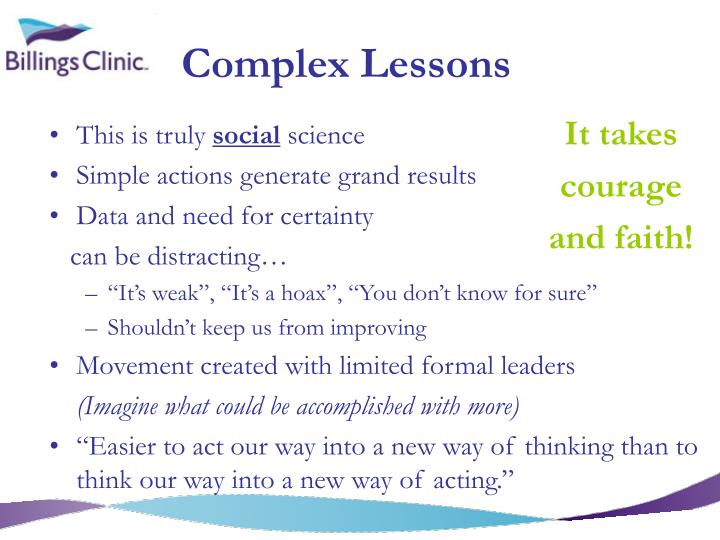 Complex Lessons