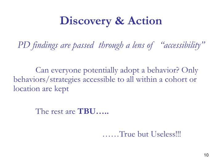 Discovery & Action