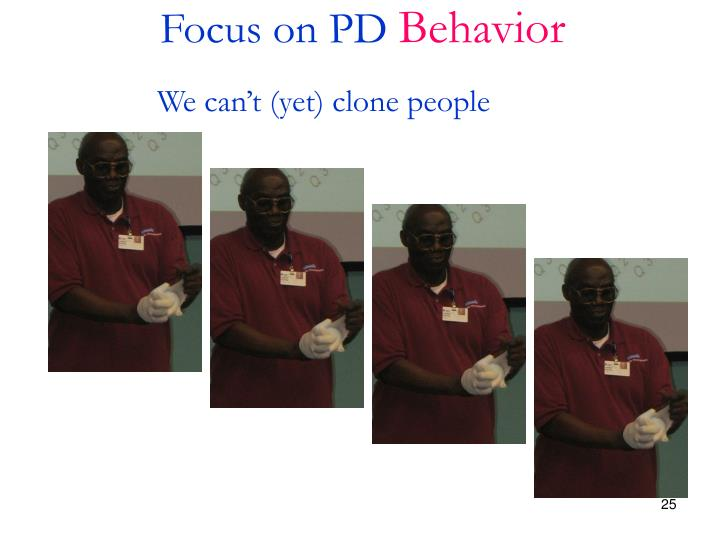 Focus on PD