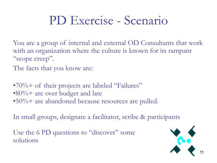 PD Exercise - Scenario