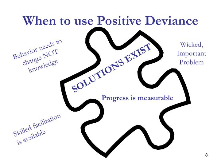 When to use Positive Deviance