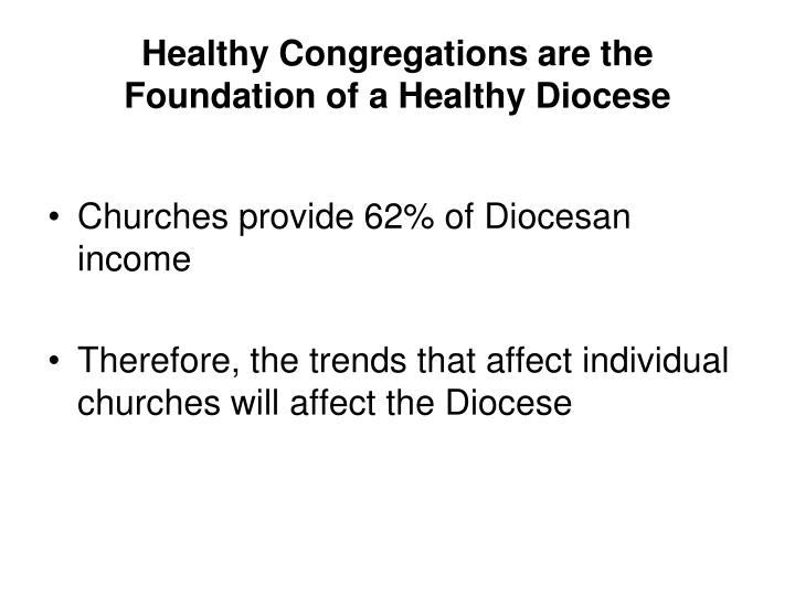 Healthy congregations are the foundation of a healthy diocese
