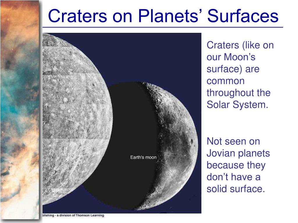Craters on Planets' Surfaces