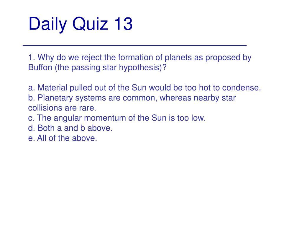 Daily Quiz 13