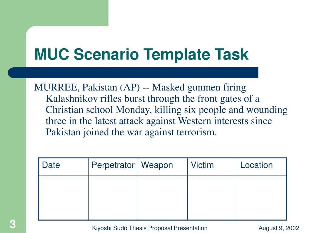 MUC Scenario Template Task