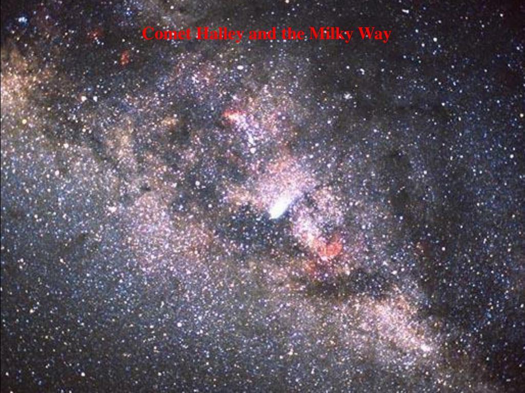 Comet Halley and the Milky Way