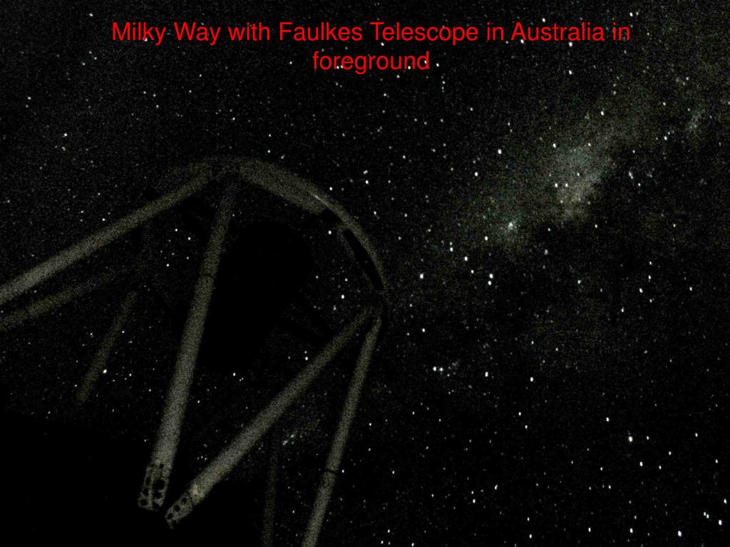 Milky Way with Faulkes Telescope in Australia in foreground