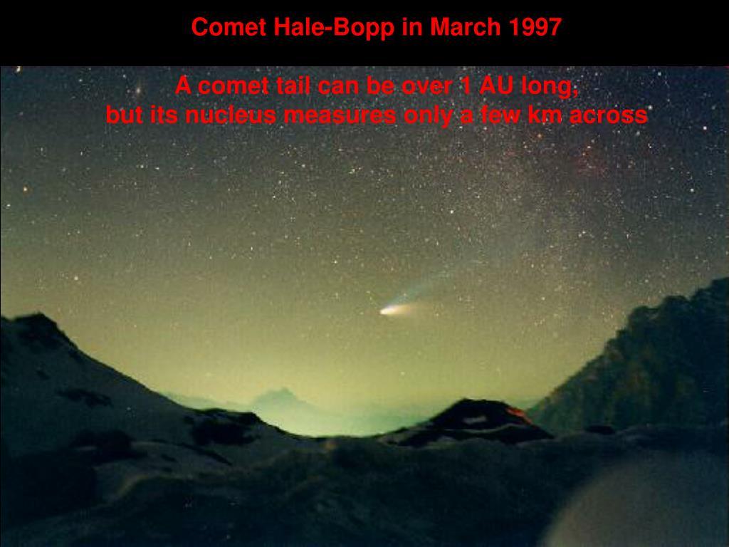 Comet Hale-Bopp in March 1997