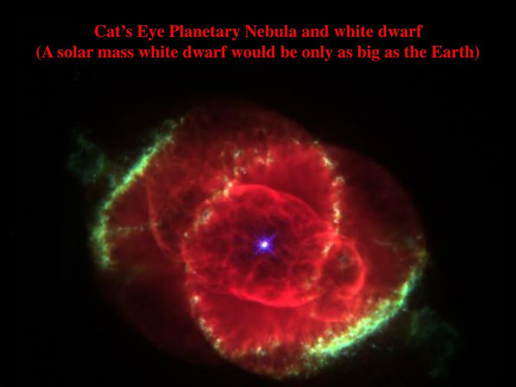 Cat's Eye Planetary Nebula and white dwarf