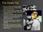 the death toll