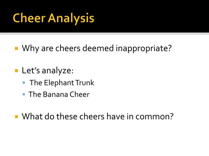 Cheer Analysis