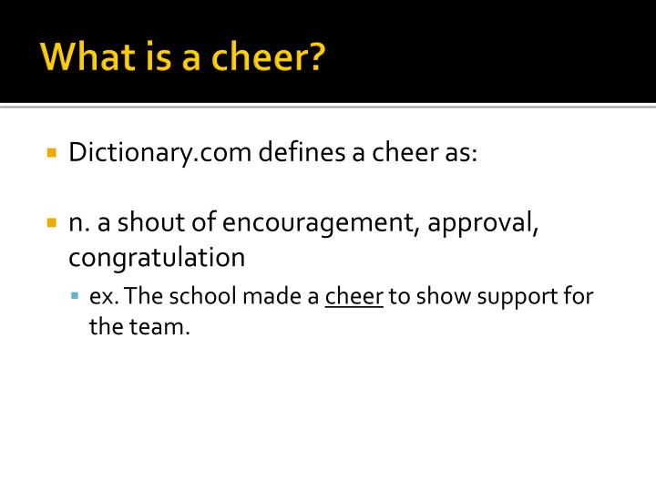 What is a cheer