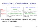 classification of probabilistic queries13