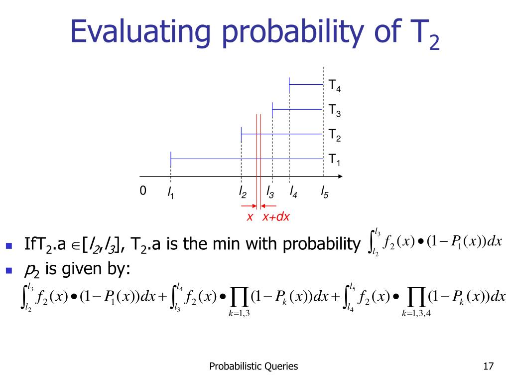 Evaluating probability of T