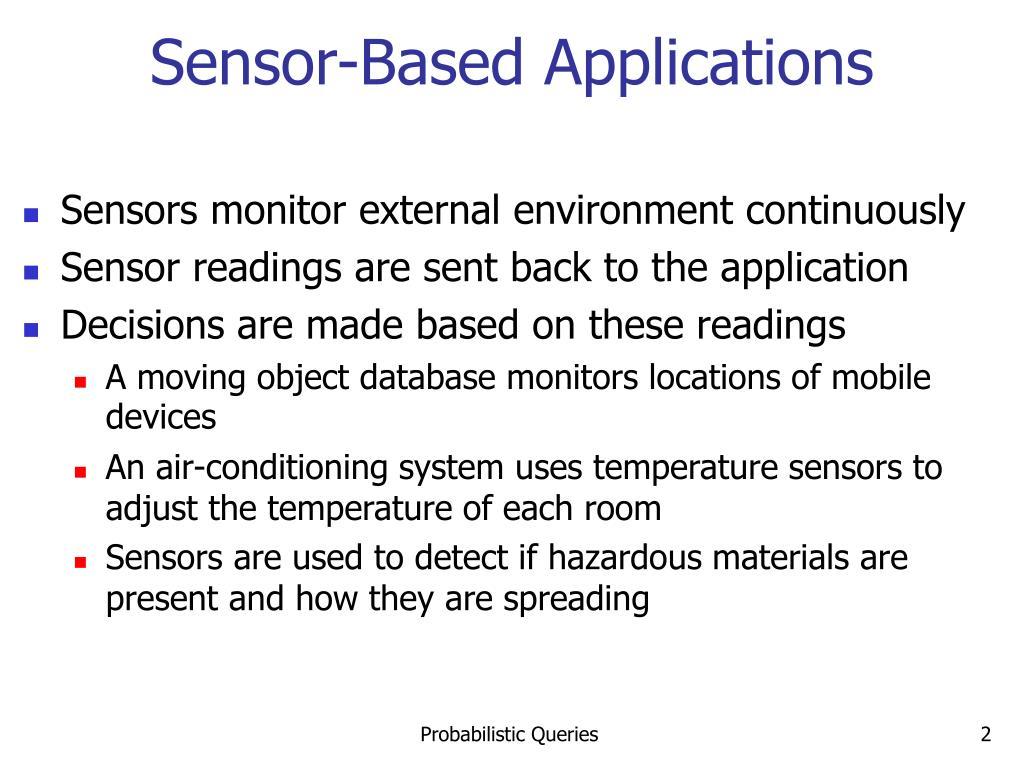 Sensor-Based Applications